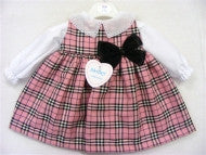 Beautiful Pinafore dress with blouse 0-3mths
