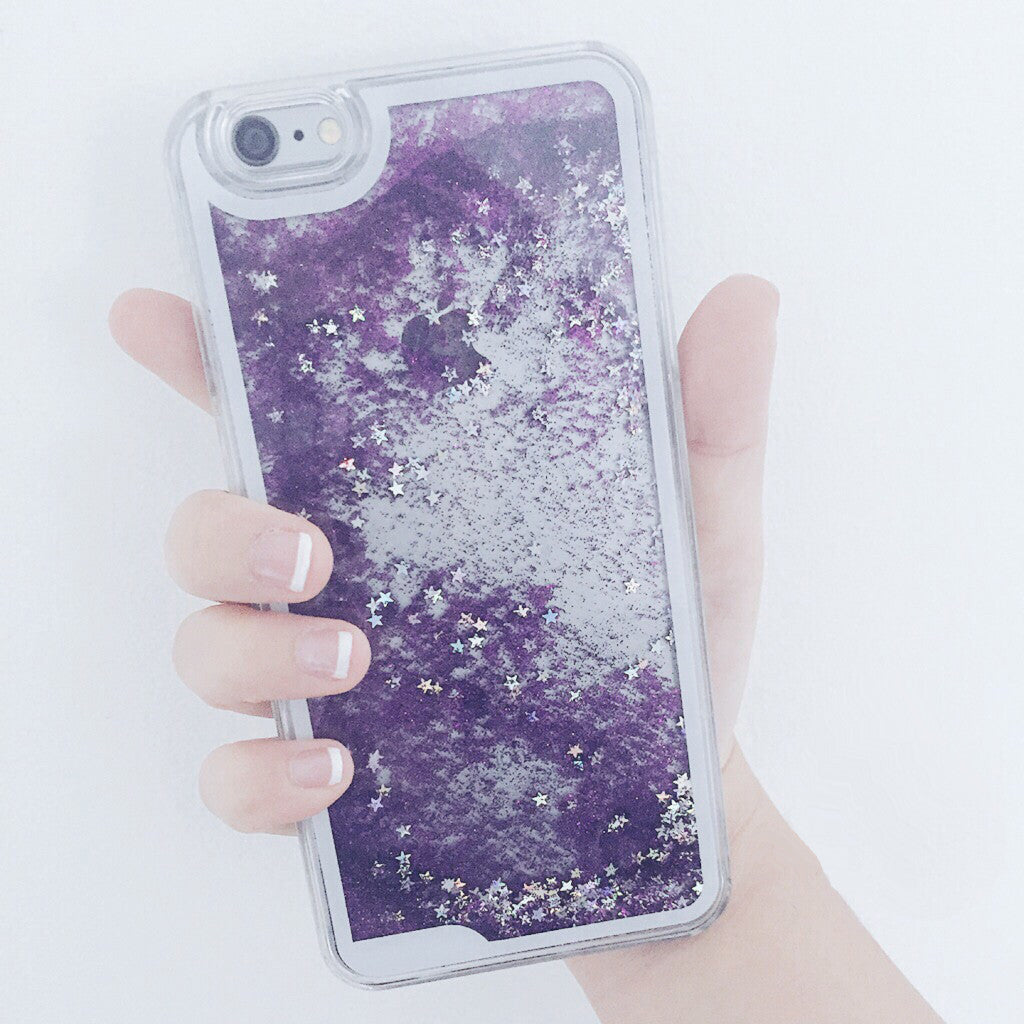 Lilac Starfall iPhone Case