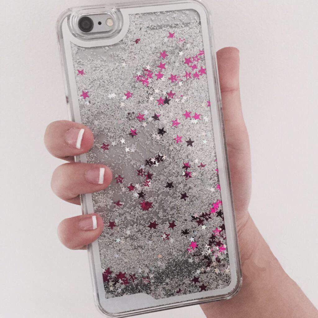 Silver Starfall iPhone Case