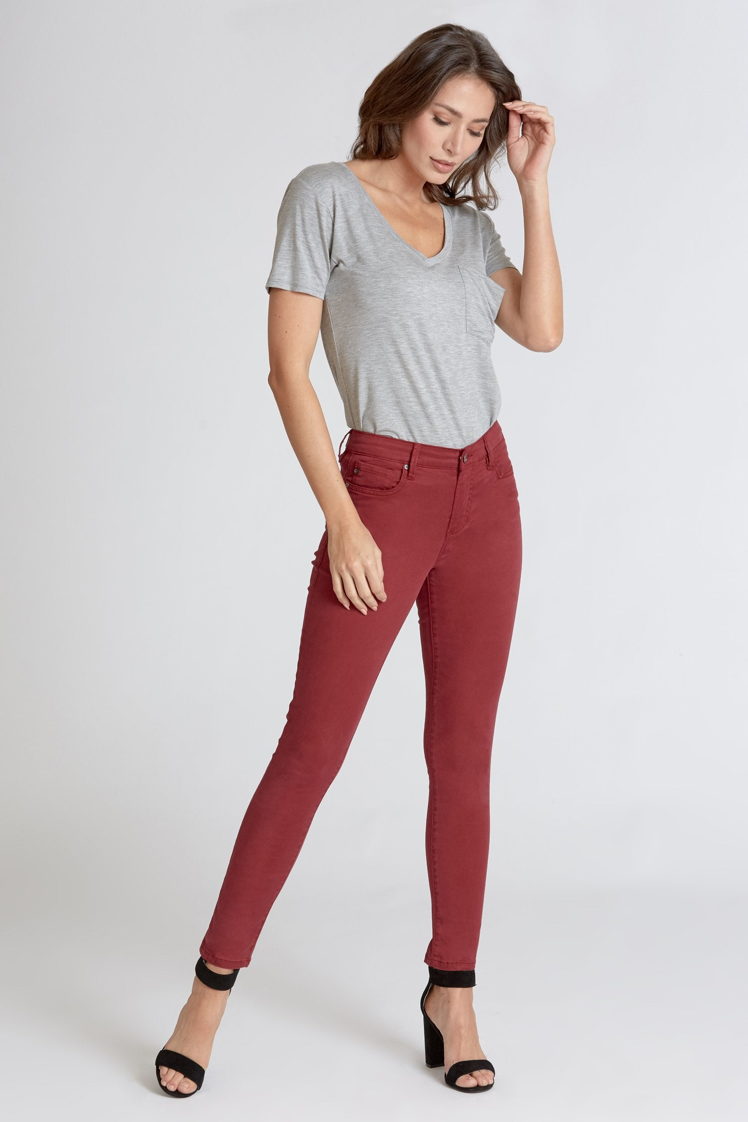 Burgundy Dear John Denim