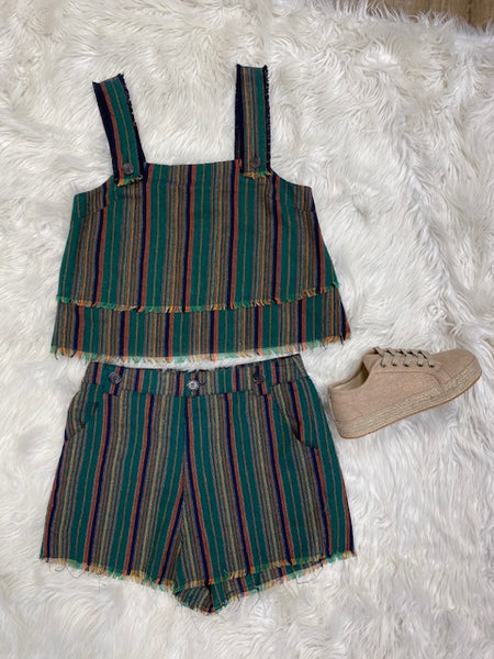 Green Striped 2 Piece (BOTTOMS)