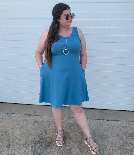 Sleeveless Dress with Pockets