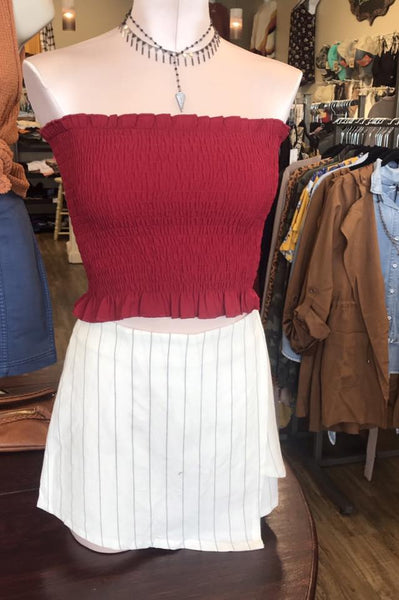 Game day Maroon Tube-top