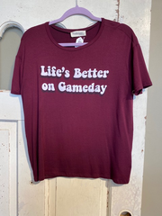 Life's Better on Game Day Graphic Tee