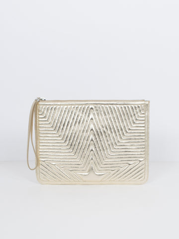 Embossed Star Clutch