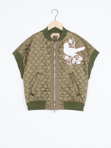 Military Quilted Bomber Jacket
