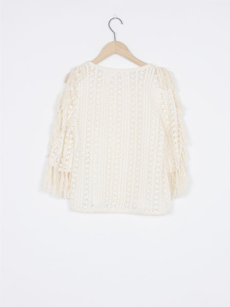 Open Crochet-knit Top