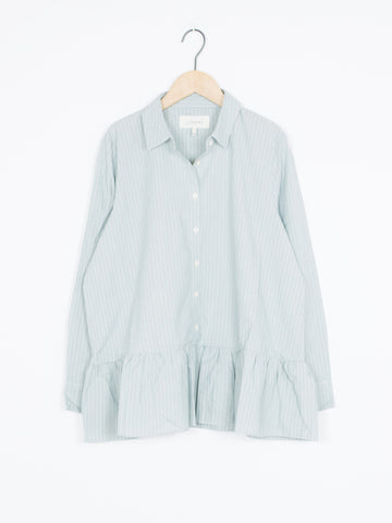The Drop Ruffle Oxford Top