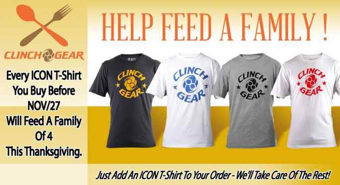 Clinch Gear Teams With San Diego Rescue Mission To feed Families In Need This Holiday Season!