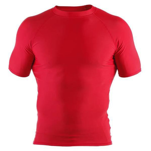 Basic Rash Guard- Short Sleeve- Red - Clinch Gear