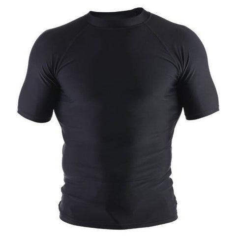Basic Rash Guard- Short Sleeve- Black - Clinch Gear