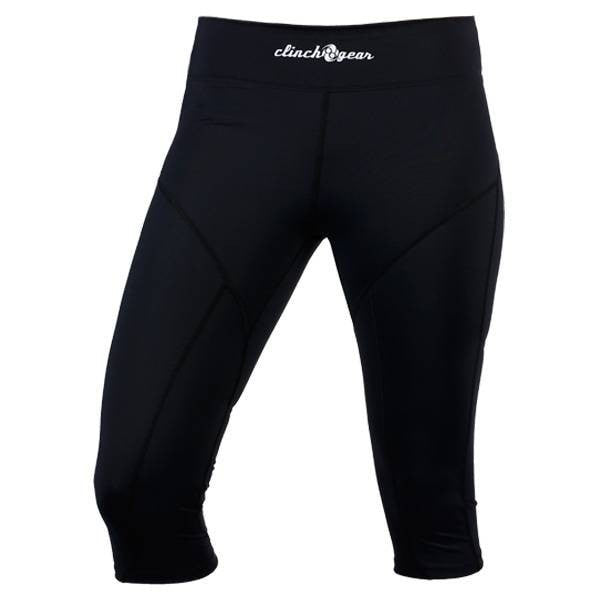 Women's Compression Capri Pant- Black - Clinch Gear