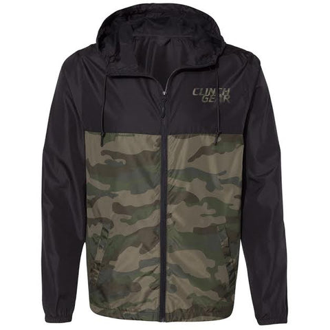 Clinch Gear - Stacked - Lightweight - Unisex Zip Jacket - Black/Camo - Clinch Gear