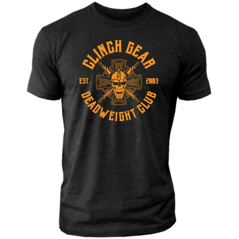 Clinch Gear Deadweight Club - Crew Tee - Black/Orange
