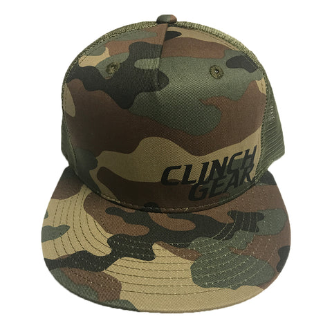 Stacked – Snapback Hat – Woodlawn Camo – Black - Clinch Gear