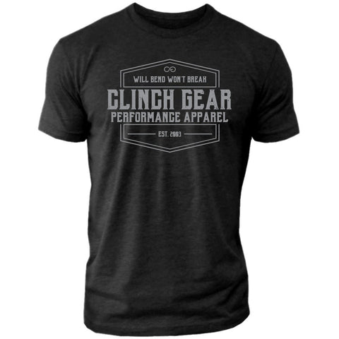 Clinch Gear Heritage – Crew Tee – Black