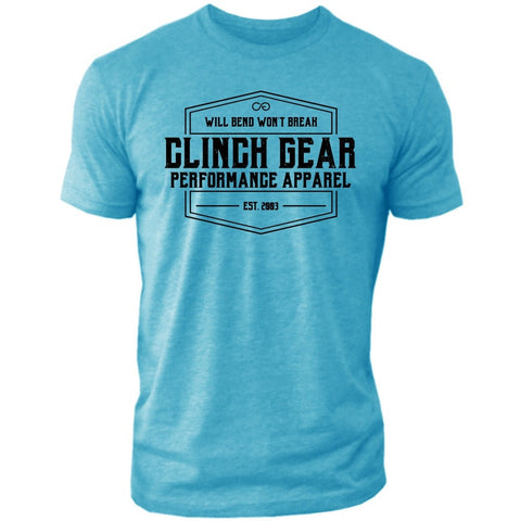 Clinch Gear Heritage – Crew Tee – Bondi Blue