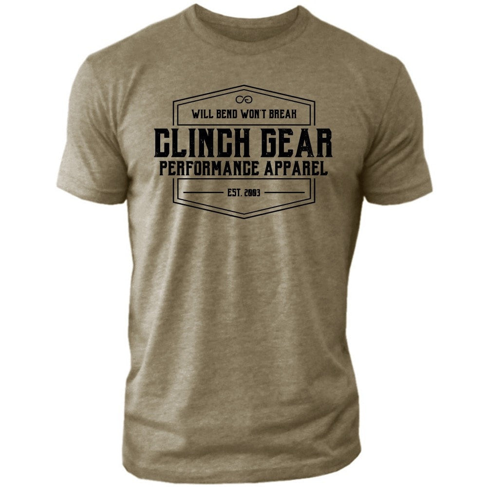 Clinch Gear Heritage – Crew Tee – Green
