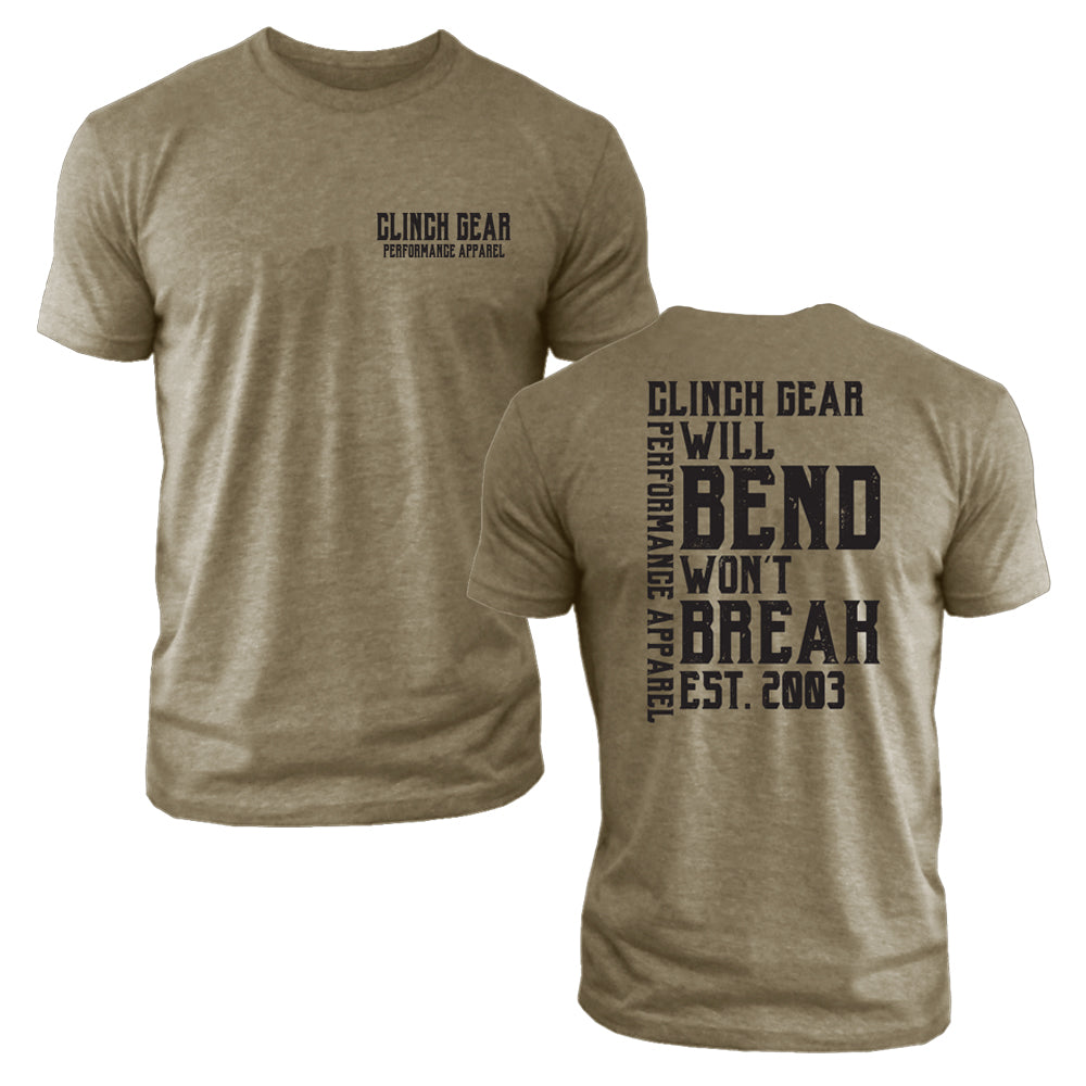 Clinch Gear - Will Bend Won't Break – Est. 2003 - Men's Crew – Military Green