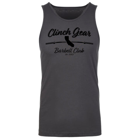 Clinch Gear Barbell Club - California - Men's Tank - Black/Charcoal - Clinch Gear