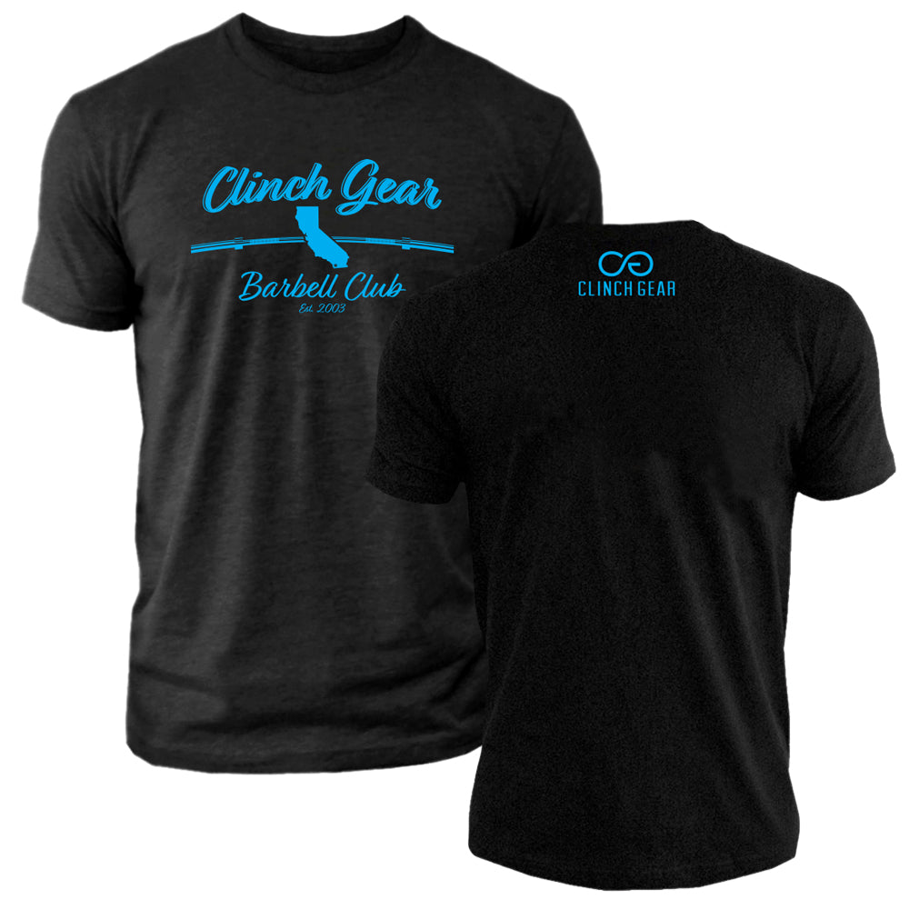 Clinch Gear Barbell Club - California - Crew Tee - Black