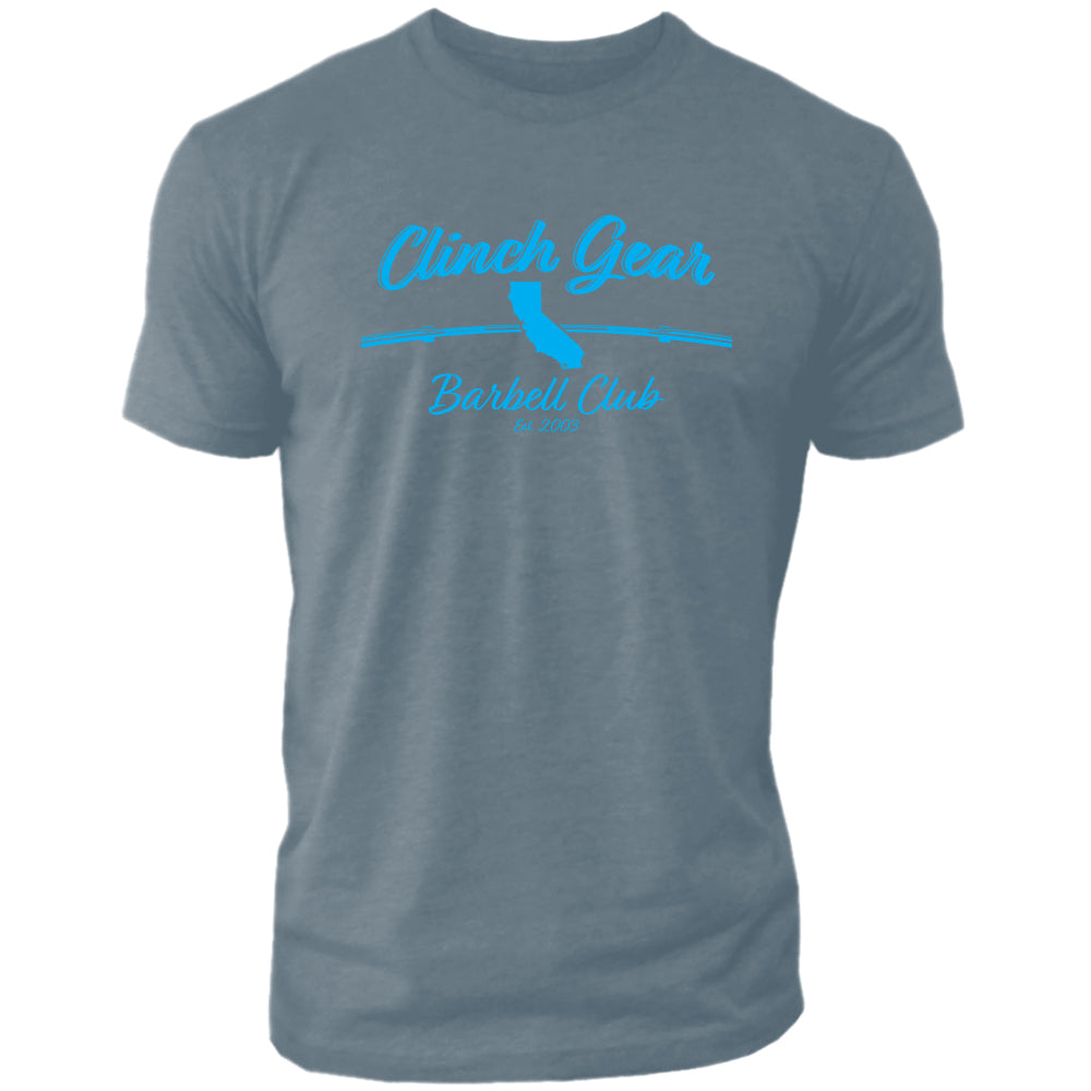 Clinch Gear Barbell Club - California - Crew Tee - Indigo - Clinch Gear