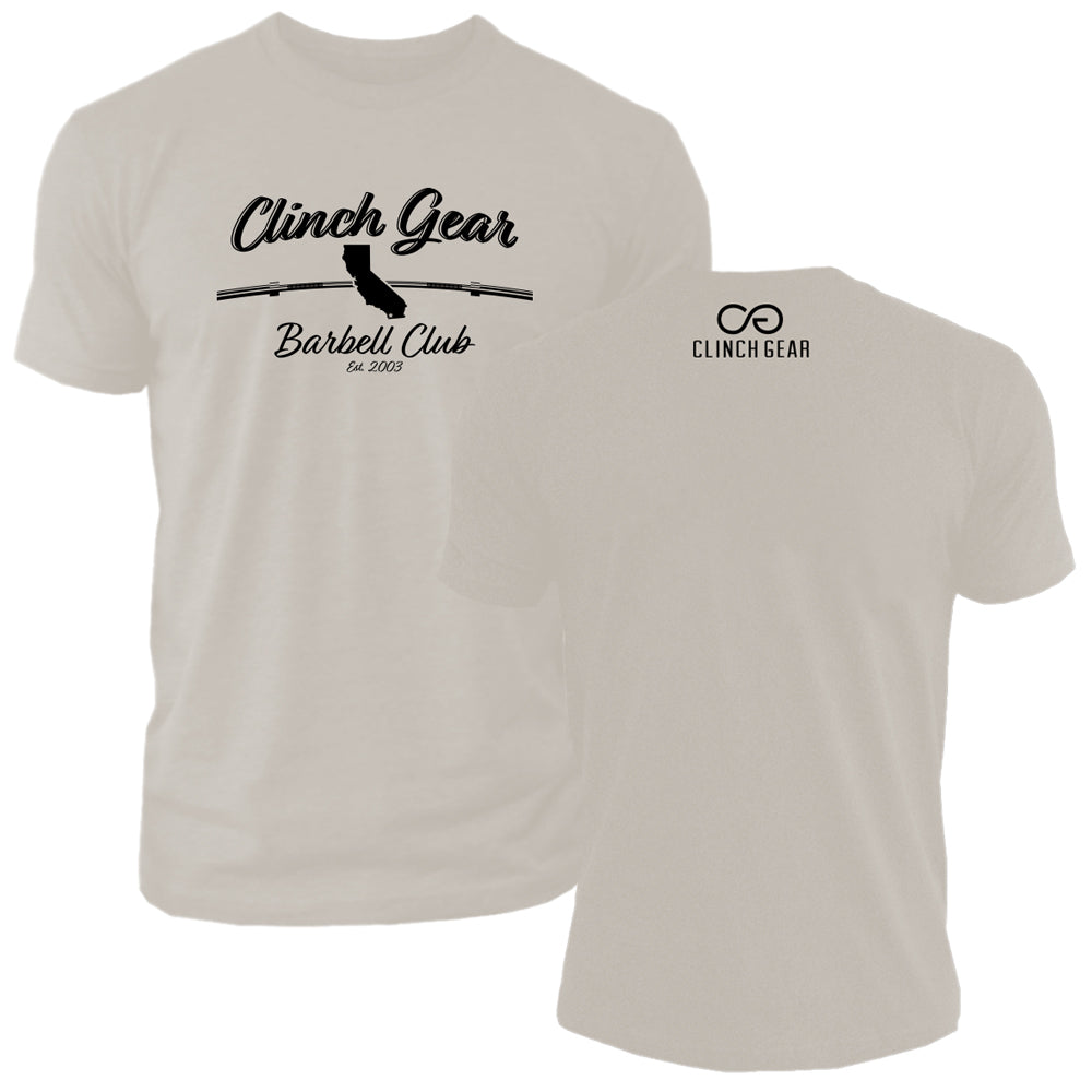 Clinch Gear Barbell Club - California - Crew Tee - Sand