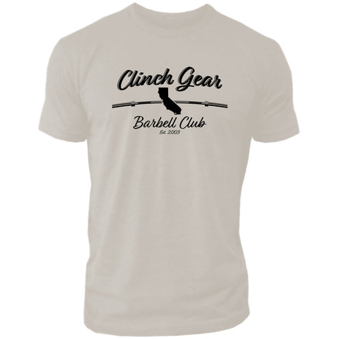 Clinch Gear Barbell Club - California - Crew Tee - Sand - Clinch Gear