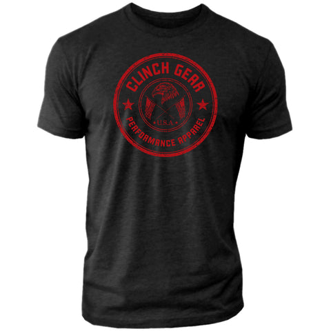 Clinch Gear Stamp Seal - Crew Tee - Black - Clinch Gear