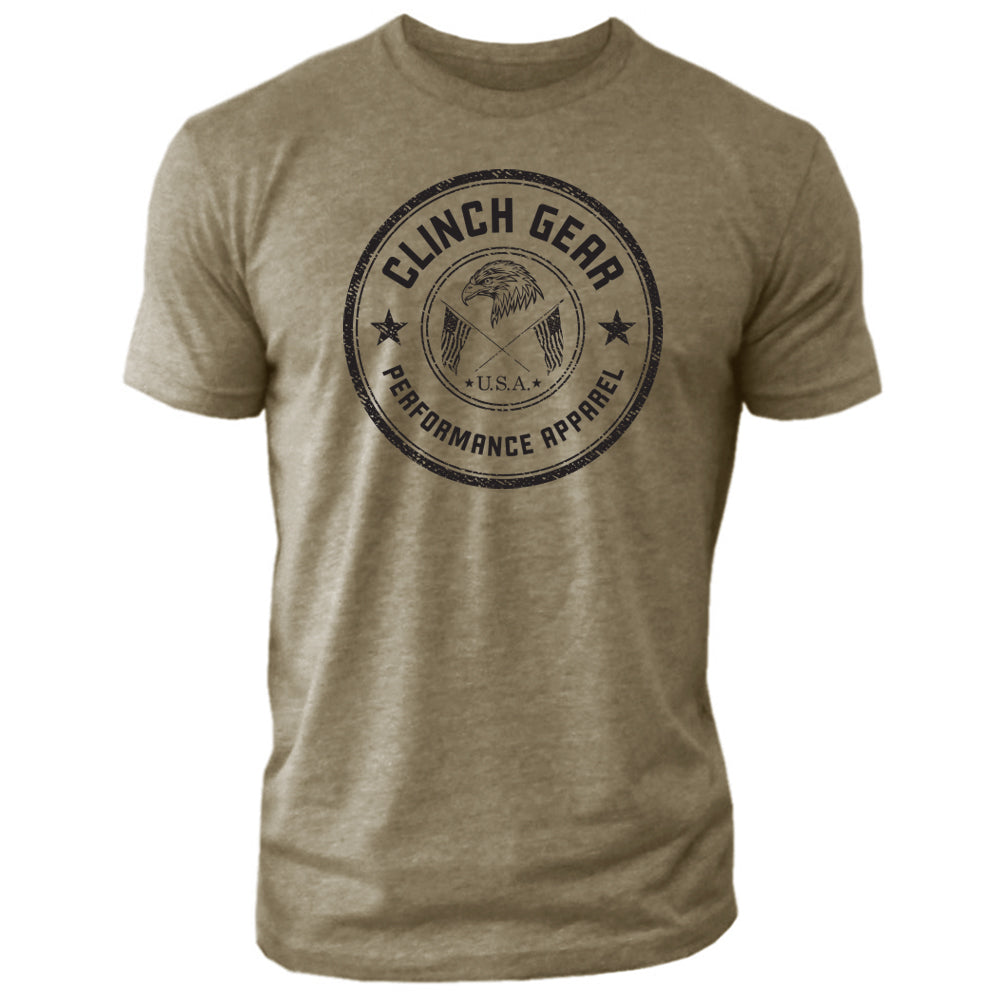 Clinch Gear Stamp Seal - Crew Tee - Military Green - Clinch Gear