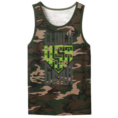 Clinch Gear - USA - Men's Tank - Camo - Clinch Gear