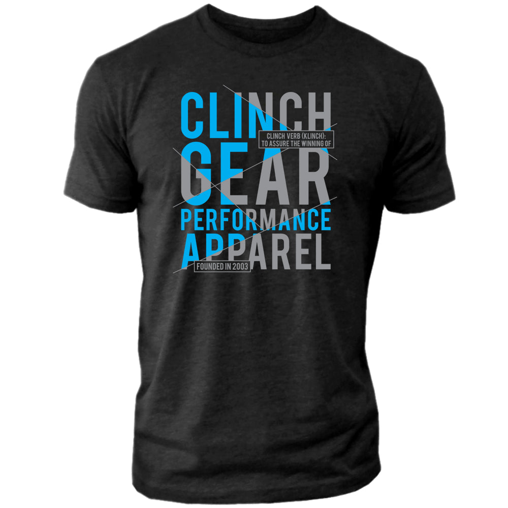 Clinch Gear - Klinch – Crew Tee – Black/Cyan/Gray
