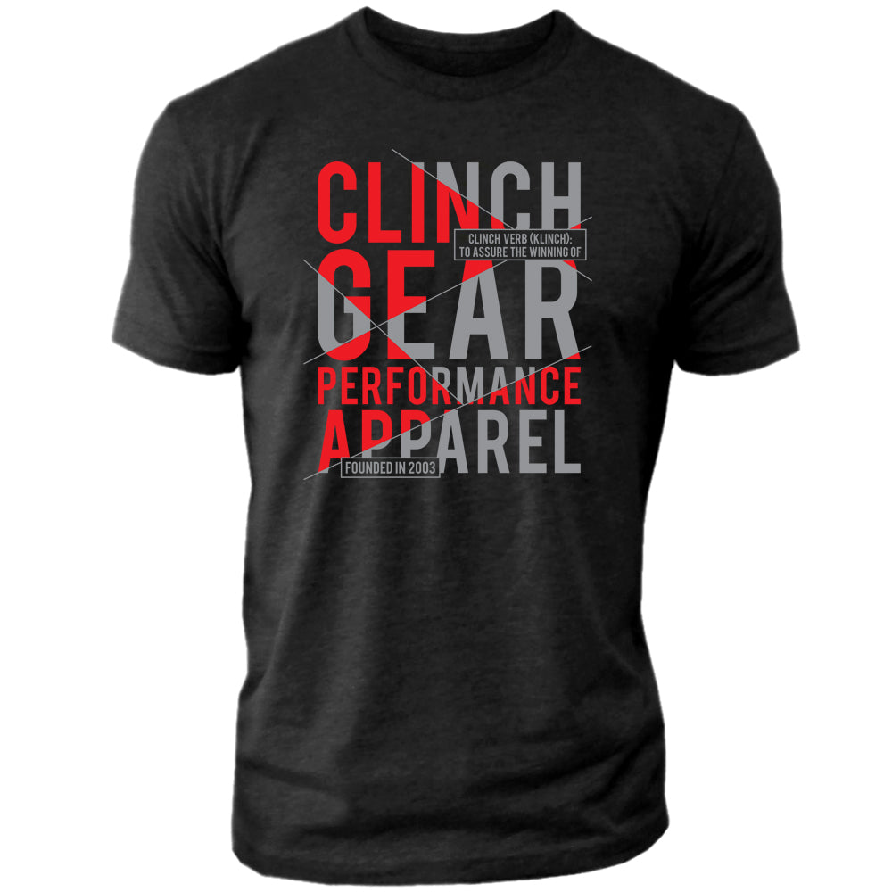 Clinch Gear - Klinch – Crew Tee – Black/Red/Gray