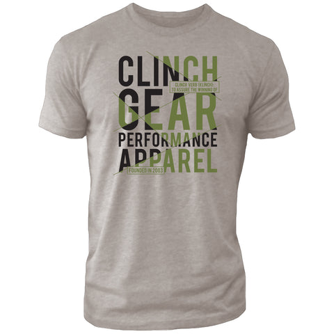Clinch Gear - Klinch – Crew Tee – Silk/Black/OD Green
