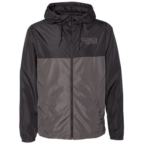 Clinch Gear - Stacked - Lightweight - Unisex Zip Jacket - Black/Graphite - Clinch Gear