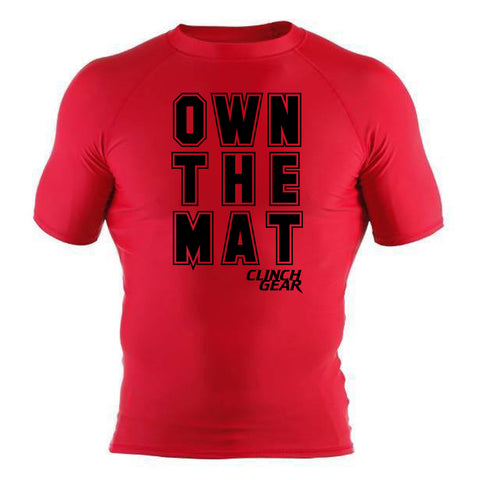 Own The Mat - Rash Guard - Short Sleeve - Red/Black