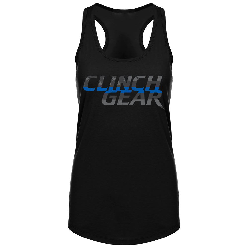 Thin Blue Line - Stacked - Women's Tank - Black