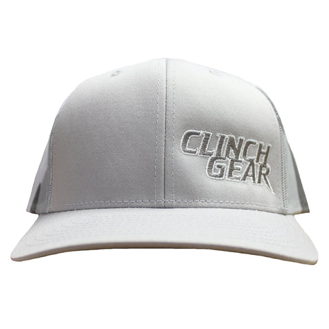 CG Stacked – Snapback Hat – Gray/Camo – Gray/White