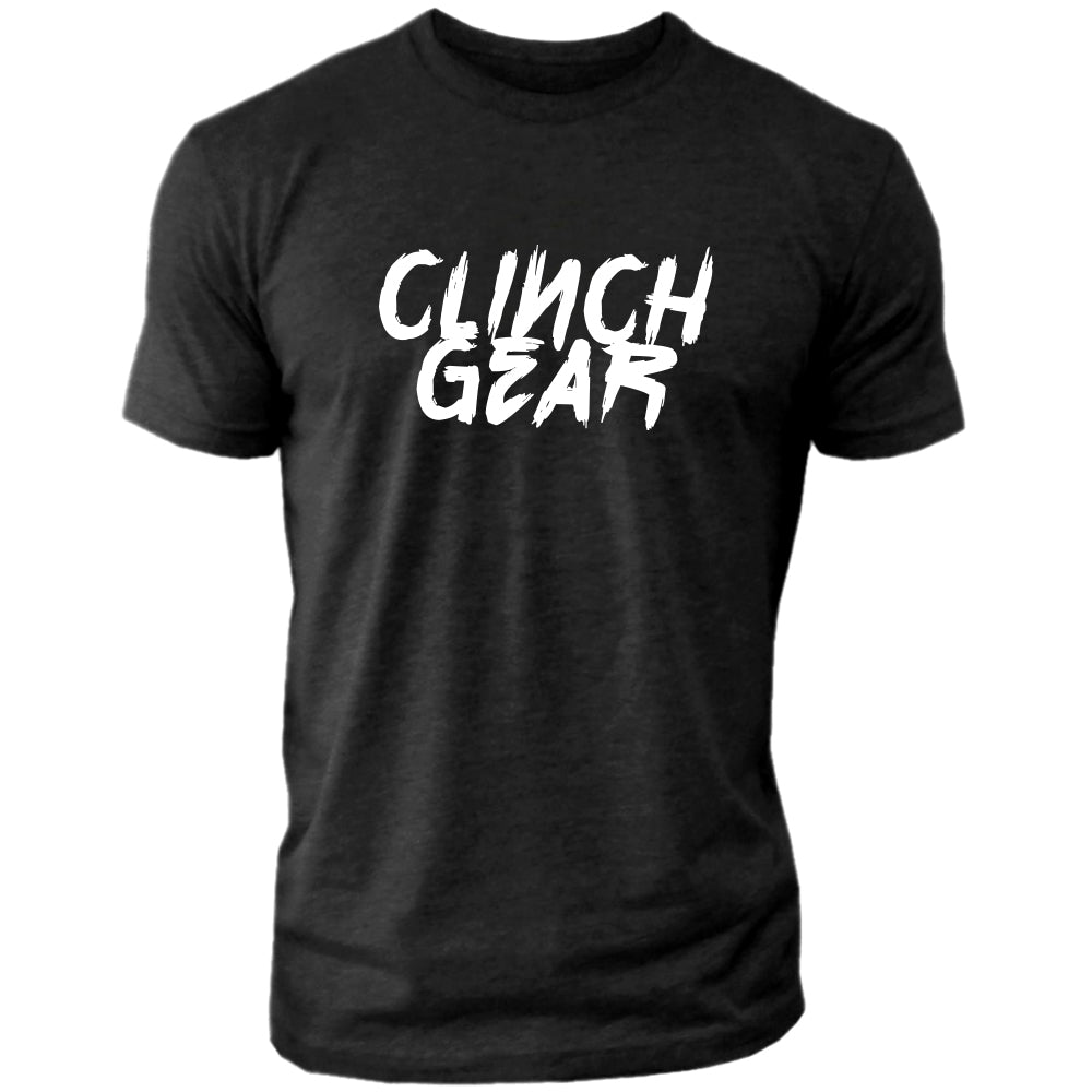 Clinch Gear Slant – Crew Tee – Black/White