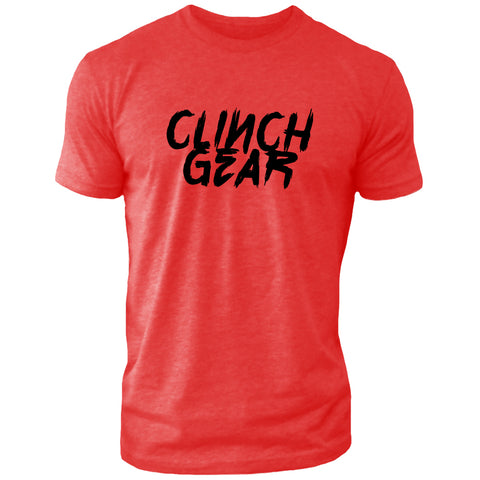 Clinch Gear Slant – Crew Tee – Red/Black