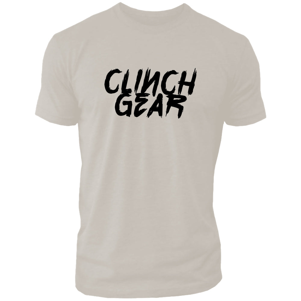 Clinch Gear Slant – Crew Tee – Sand/Black