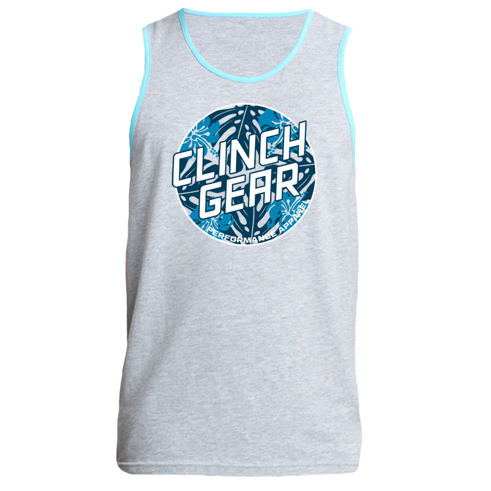 Clinch Gear Summertime - Men's Tank - Heather Gray/Blue