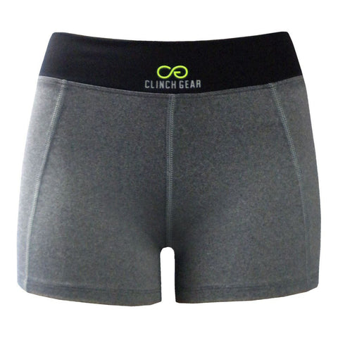 Cross Training Performance Micro Short - Lux - Heather Gray/Black/Lime Green - Clinch Gear