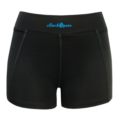 Cross Training Compression Micro Short - Crush - Black/Cyan - Clinch Gear