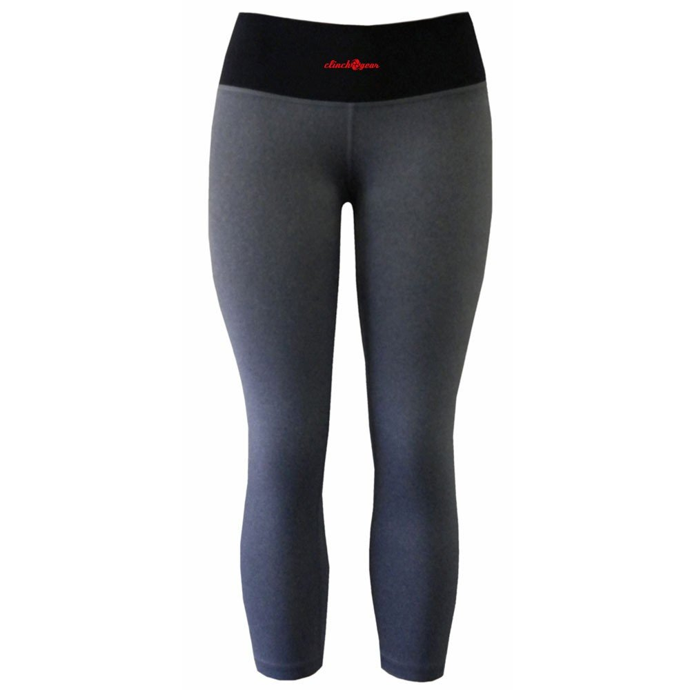 Cross Training Performance Capri Tights - Crush - Heather Gray - Black/Red - Clinch Gear