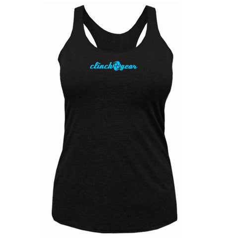 Racerback Tank - Crush - Black/Cyan - Clinch Gear
