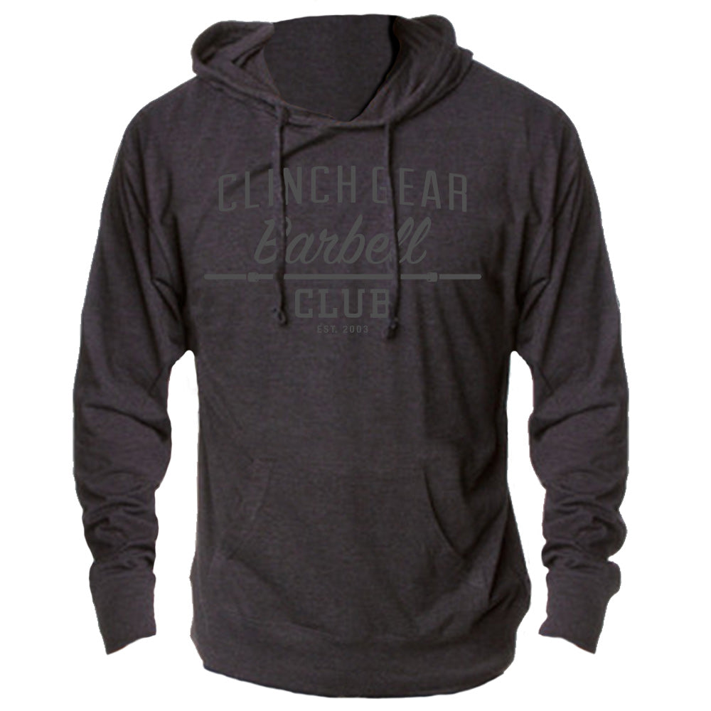 Clinch Gear Barbell Club – Lightweight Hoody – Charcoal