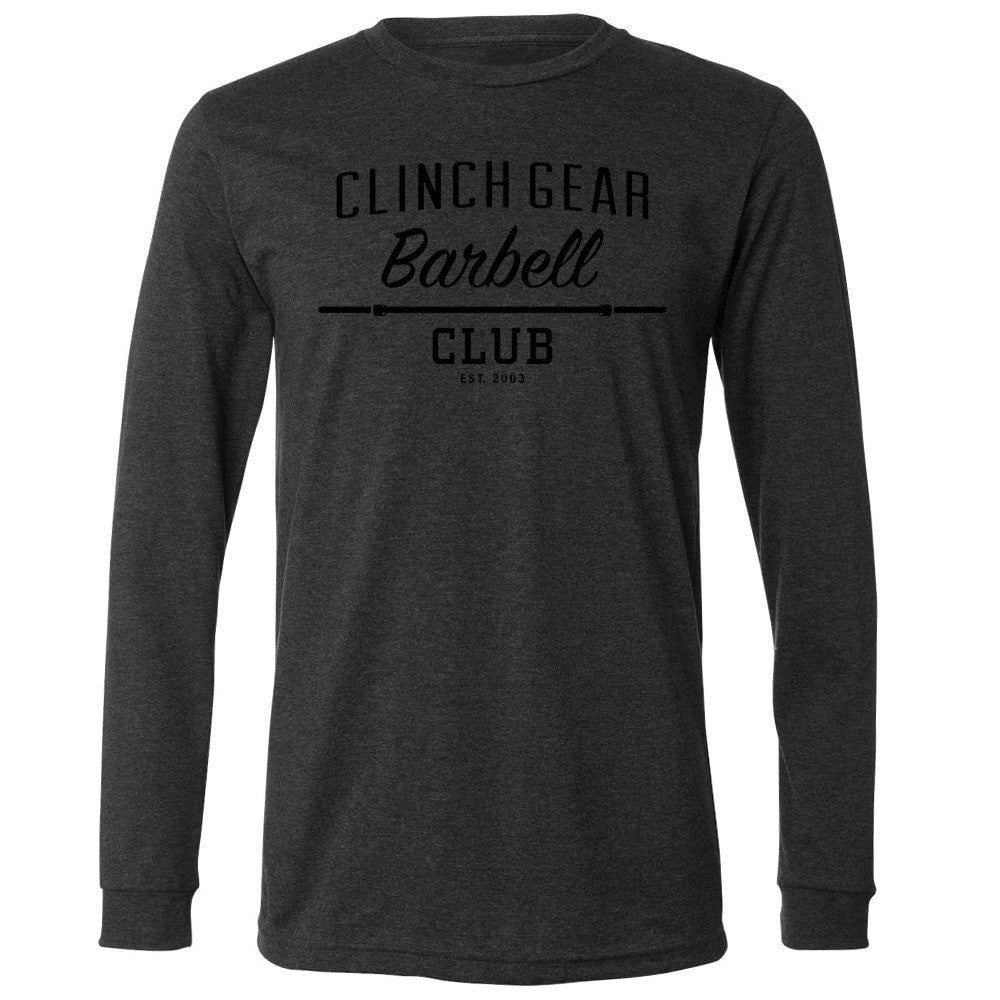 Clinch Gear Barbell Club - L/S Crew Tee - Dark Grey
