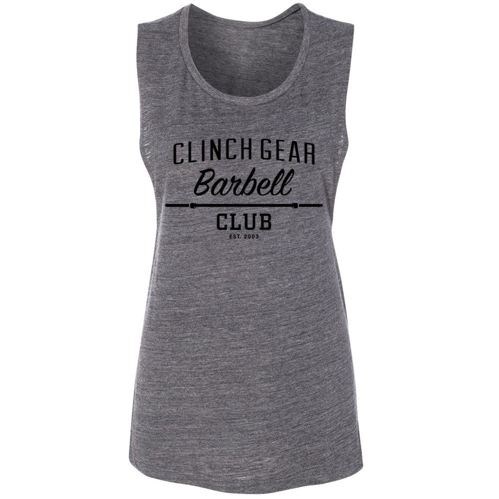 Clinch Gear Barbell Club - Women's Muscle Tank - Charcoal Gray - Clinch Gear