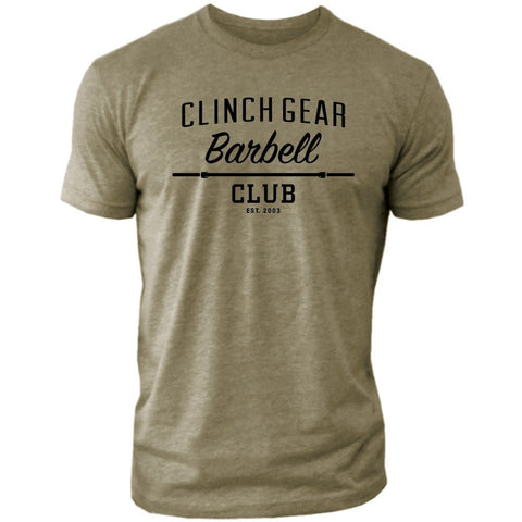 Clinch Gear Barbell Club - Crew Tee - Military Green